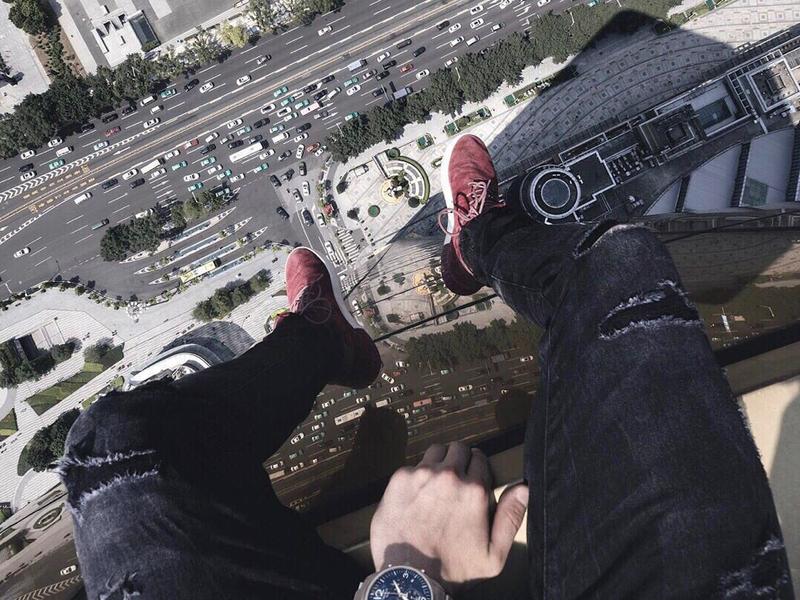 selfie em cima do prédio