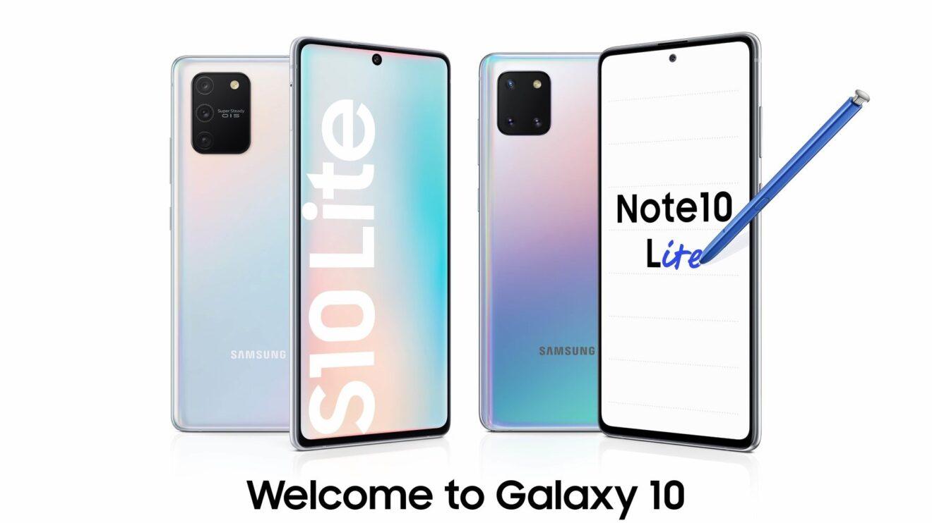 imagem destacada do Samsung Galaxy Note 10 Lite e S10 Lite
