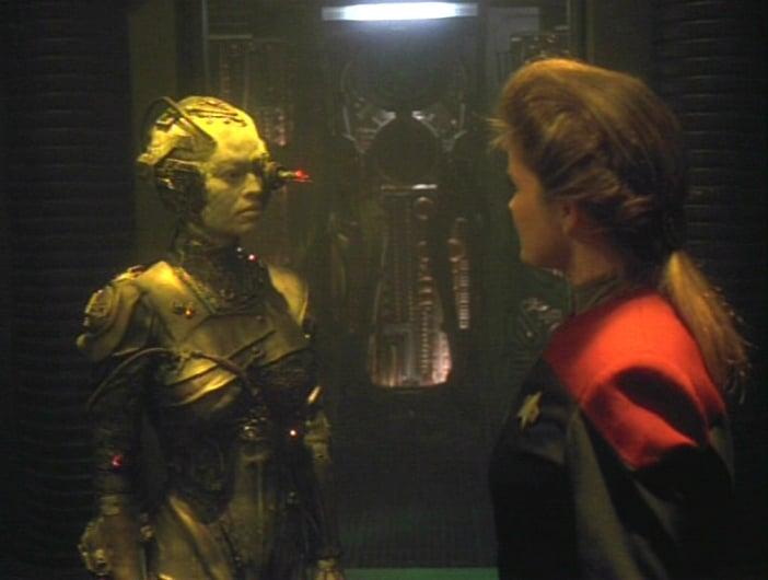 Scorpion foi o primeiro episódio em que apareceu a popular personagem Sete de Nove (Foto: Reprodução)