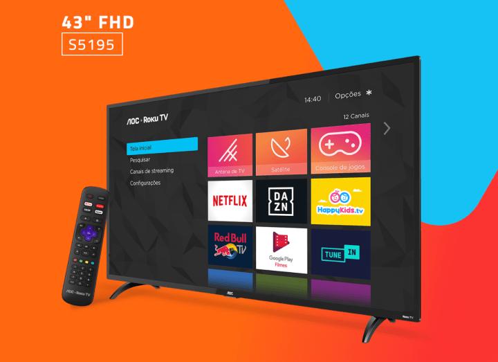 Roku chega ao Brasil com duas smart TVs de 32 e 43 polegadas