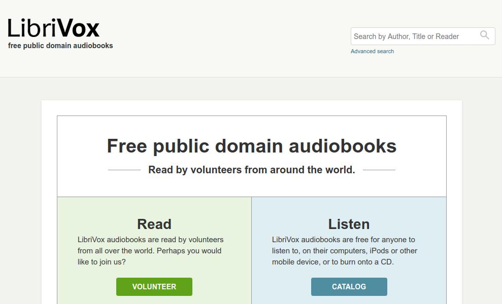 O LibriVox encoraja seus usuários a contribuírem para o acervo gravando audiobooks