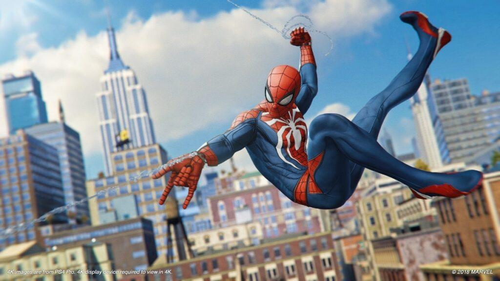 O jogo Spider-Man foi testado no SSD do PlayStation 5 e teve um tempo de resposta consideravelmente menor quando comparado ao PS4 (Foto: Reprodução)