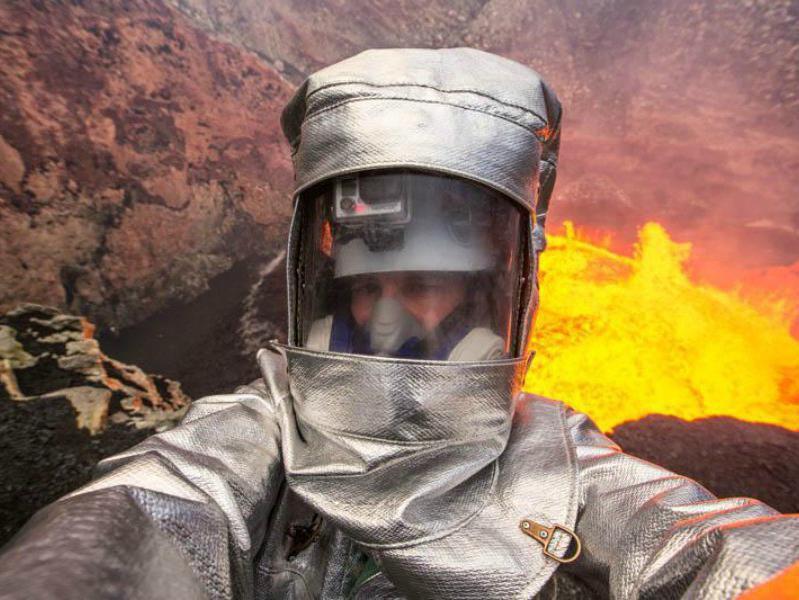 Selfie no vulcão