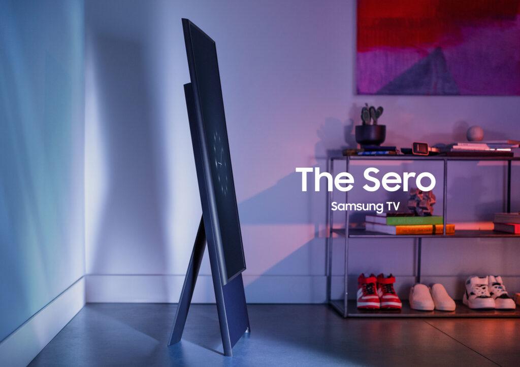 Tv sero da samsung gira em seu próprio eixo e se torna uma espécie de smartphone gigante (reprodução: samsung)