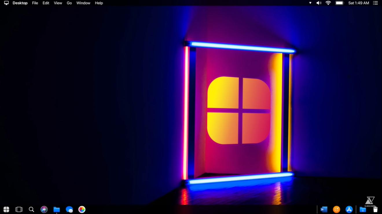 Área de trabalho do Windows 10 Apple's Edition