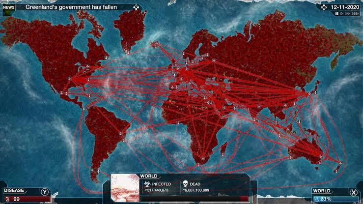 Em Plague Inc. o jogador controle um patógeno mortal que se espalha pelo mundo