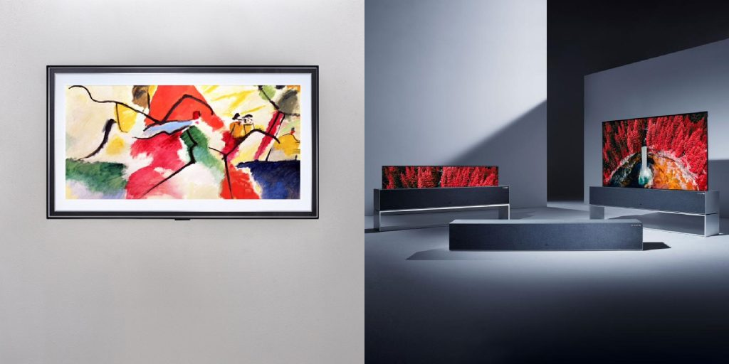 Tv lg gallery series e rx rollable