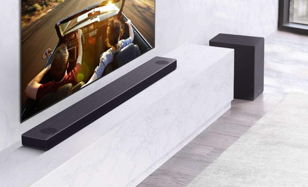 Soundbars da LG desenvolvidos em parceria com a Meridian Audio.