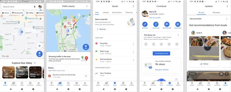 As novas abas do Google Maps trazem recursos que melhoram a experiência do usuário