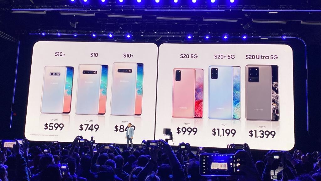 Comparativo de preços dos smartphones Galaxy