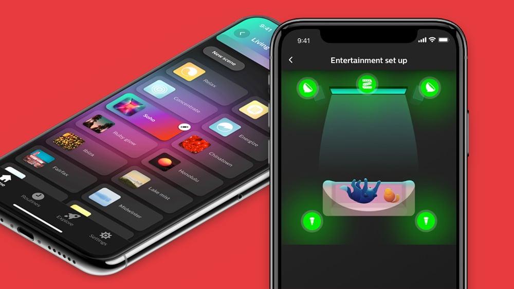 philips hue bluetooth, app para controle das lâmpadas