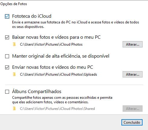 Como fazer upload de imagens do iCloud no Windows