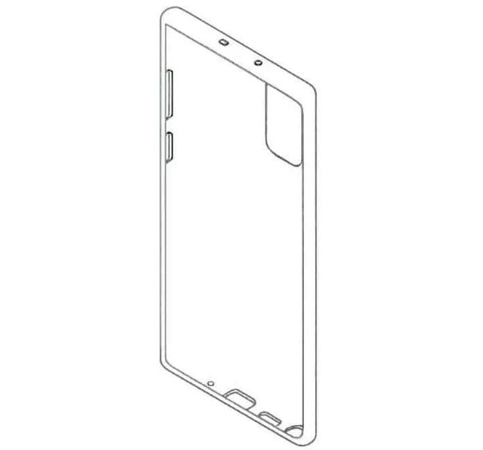 Design de suposta capa para o Galaxy Note 20