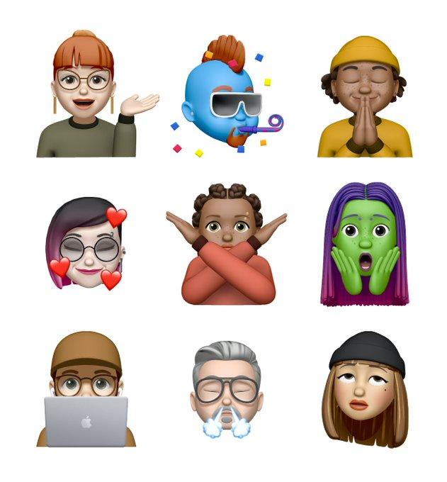 O iOS 13.4 terá nove figurinhas Memoji inéditas (Foto: Divulgação)
