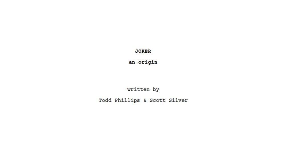 Coringa filme 2019 roteiro