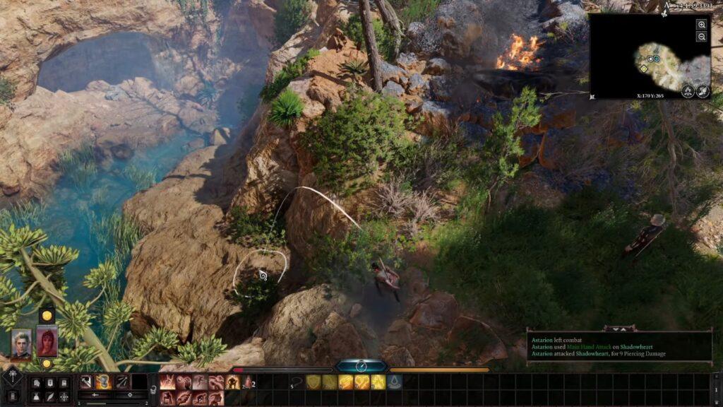 Em Baldur's Gate 3, é possível fazer saltos, mas é preciso ter cuidado pois eles podem ser mortais