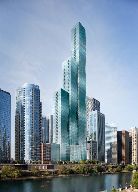 Este será o prédio mais alto do mundo projetado por uma mulher. Jeanne gang é a responsável pelo projeto futurista
