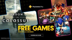 PS Plus de Março terá Shadow of the Colossus e Sonic Forces