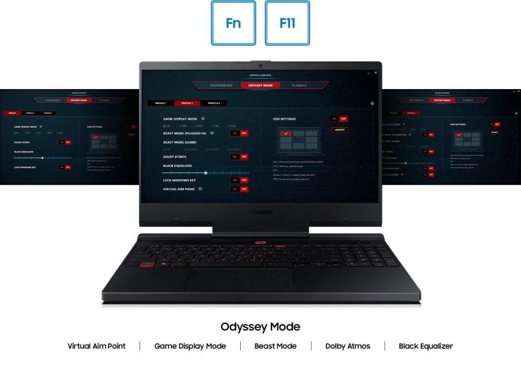 Samsung Odyssey Control é a central de controle do Odyssey 2