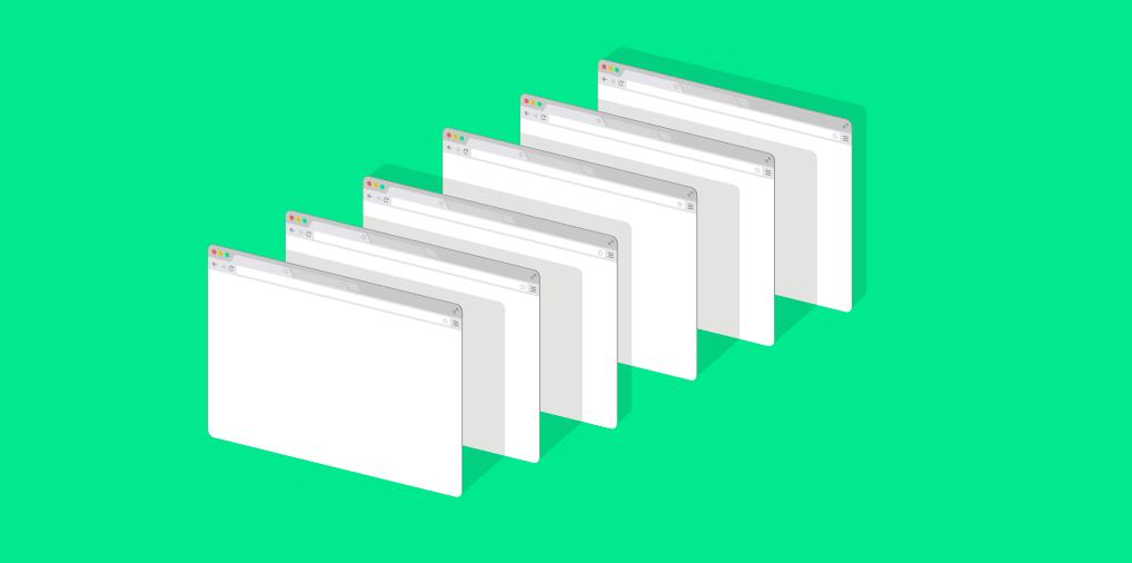 Abas sendo abertas em navegador para atividade home office