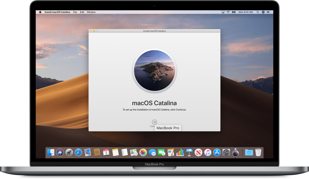 Macbook com o macOS Catalina