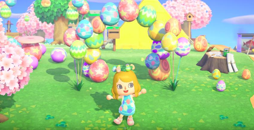 Evento de Páscoa com ovos em Animal Crossing New Horizons