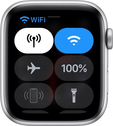Central de Controle do Apple Watch