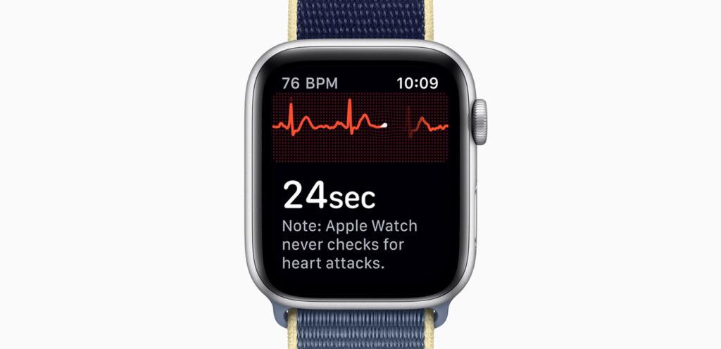 Eletrocardiograma no Apple Watch Series 5