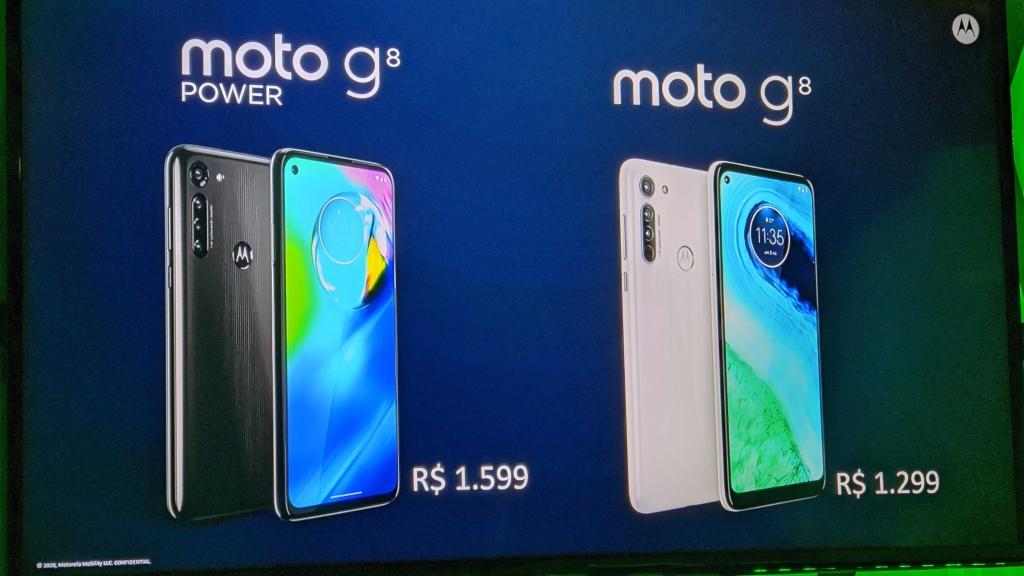 Preços dos novos Moto G e Moto G8 Power