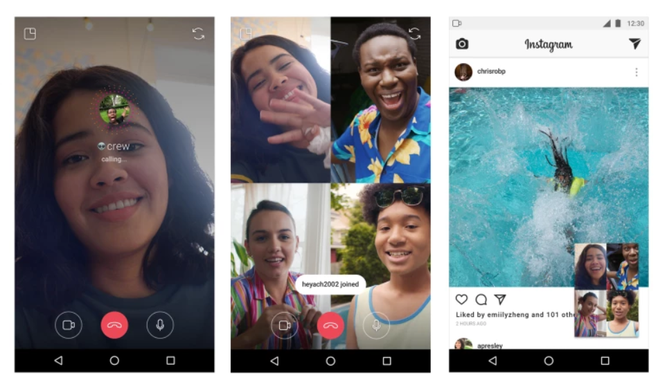 Videoconferência - Instagram