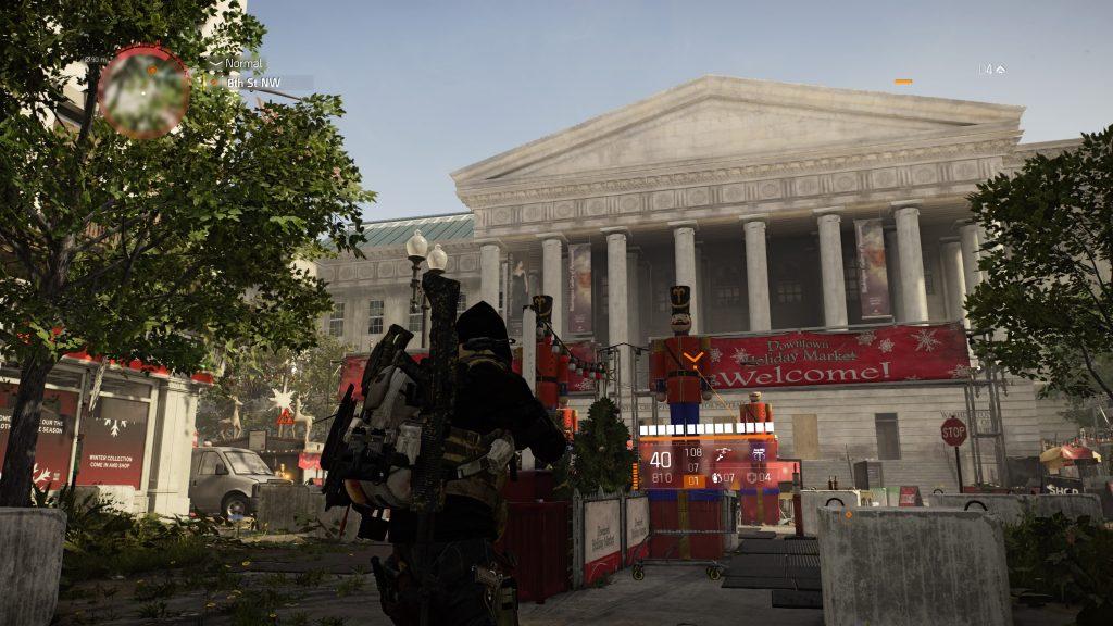 Jogador em frente à prédio histórico de nova york