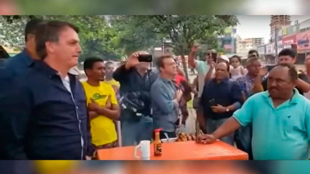 Print do vídeo apagado de Bolsonaro