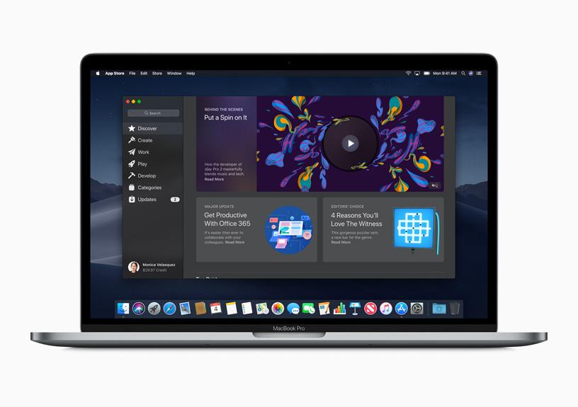 Apple Mac com a App Store aberta