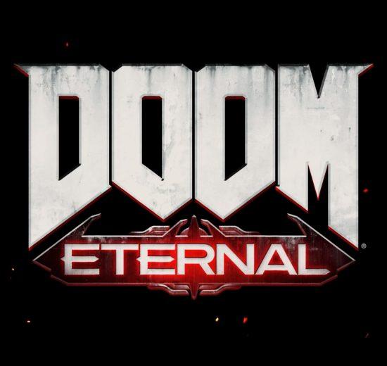 Capa da matéria, mostrando o logotipo de Doom Eternal