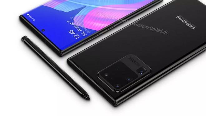 Imagem que mostra o Galaxy Note 20 conceito