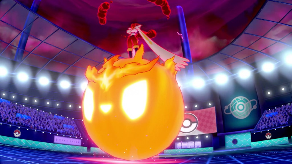 Forma gigantamax de Cinderance na expansão de Pokémon Sword & Shield