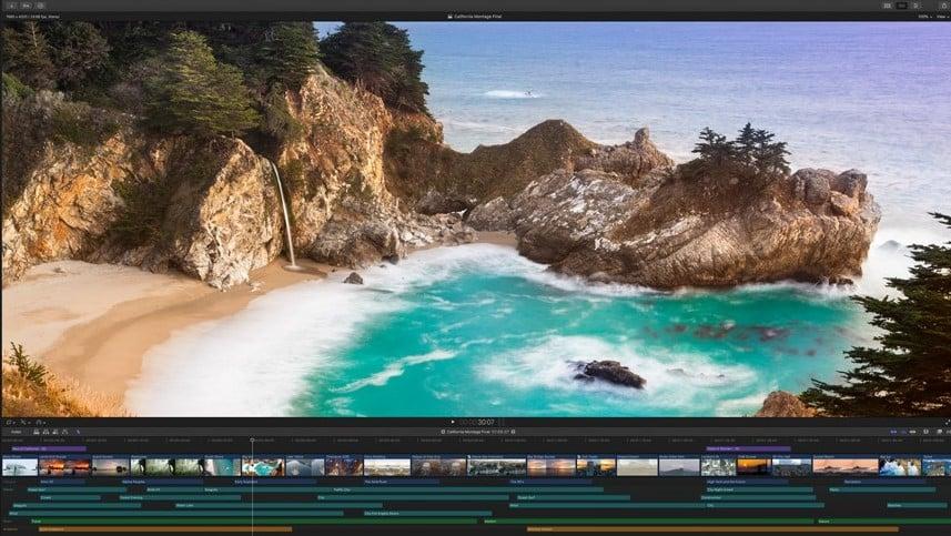 Screenshot de um dos editores de vídeo