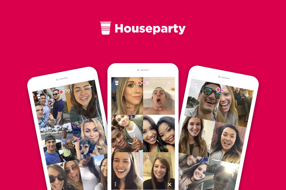 Videoconferência - houseparty
