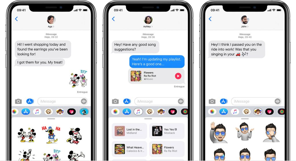 Aplicativos do imessage