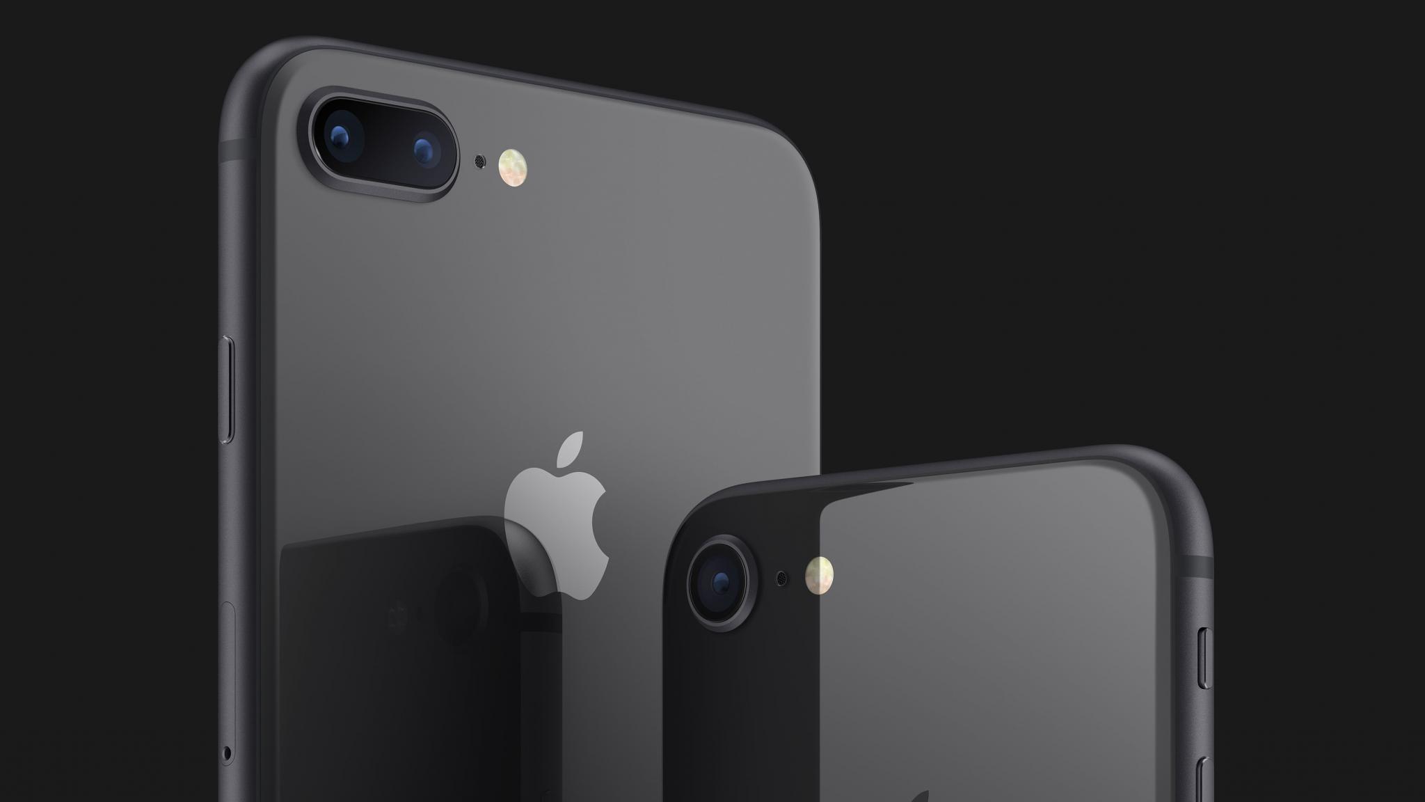 Iphone 8 e iphone 8 plus cinza espacial
