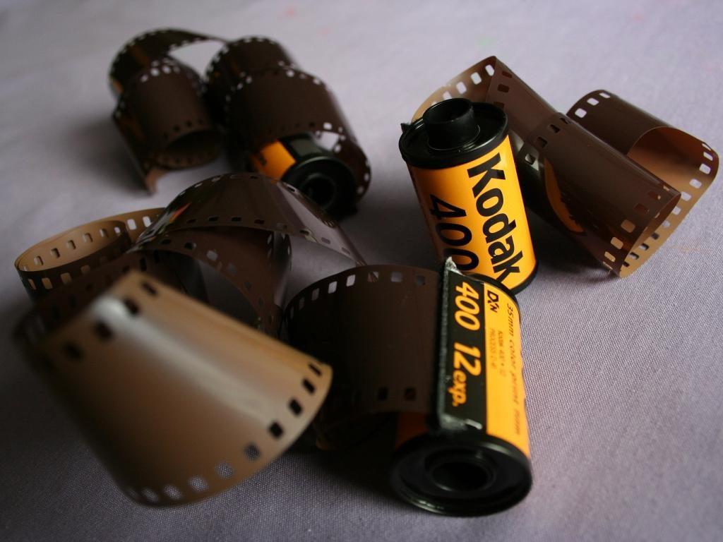 Rolos de filme kodak