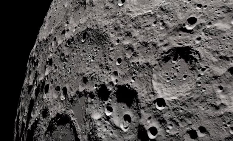 Imagem da lua registrada pela nasa