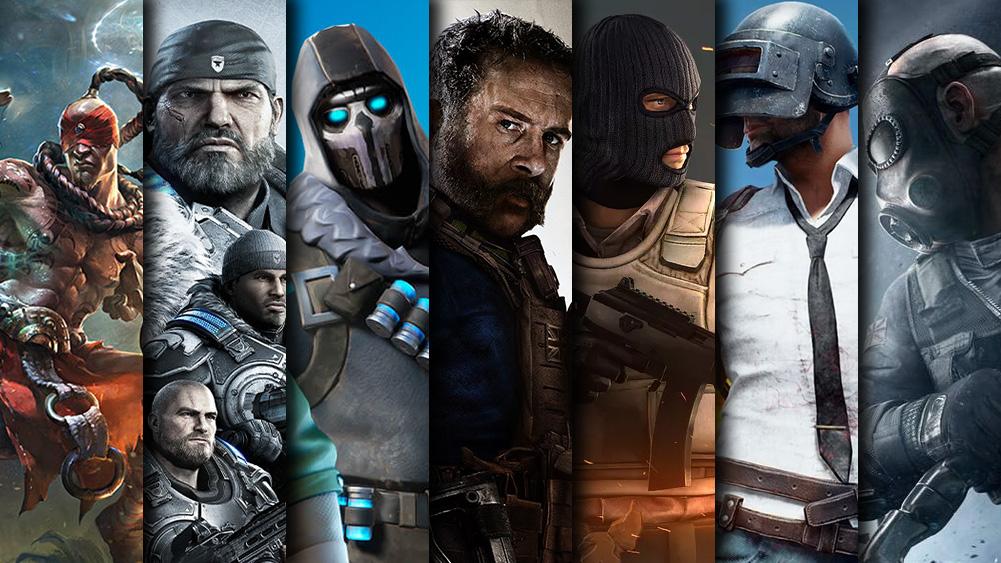 League Of Legends Gears of War 5 Fortnite COD: Modern Warfare CS:GO PUBG Rainbow Six Siege