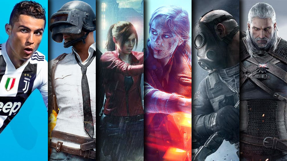 Fifa 19 PUBG Resident Evil Battlefield V Rainbow Six Siege The Witcher