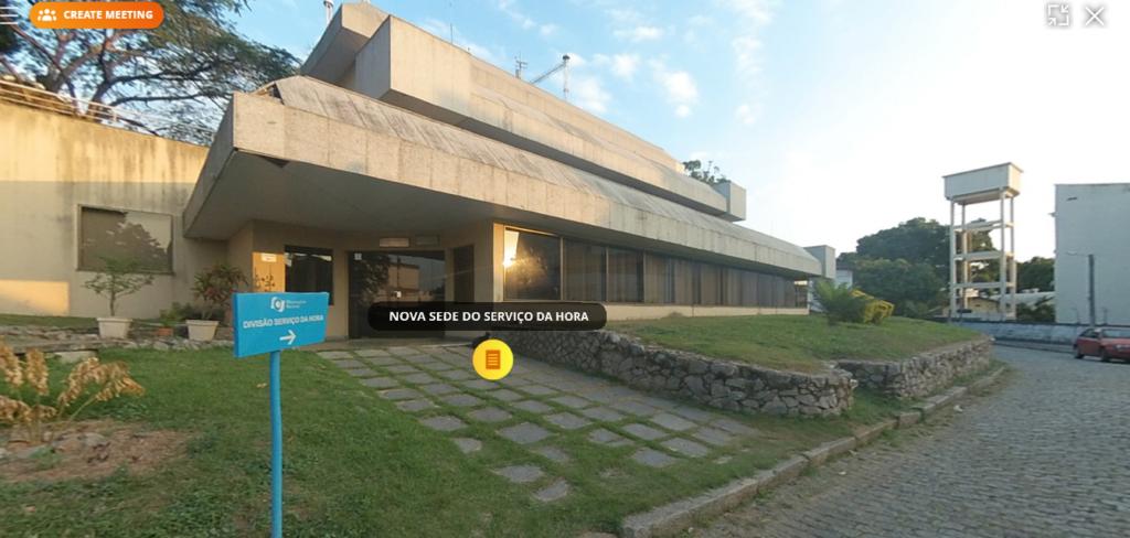 Captura da visita virtual pelo Museu de Astronomia e Ciências Afins