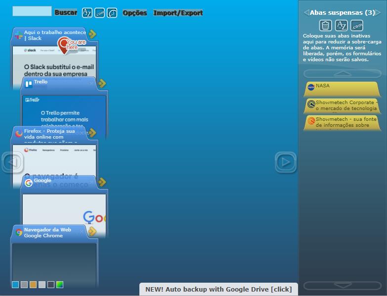 Interface TooManyTabs