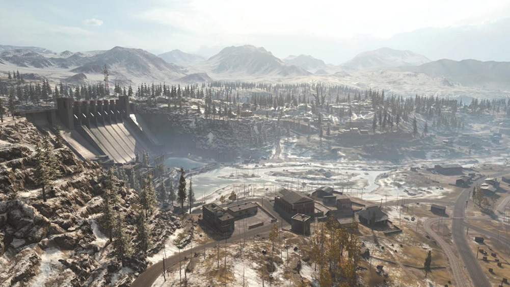 área de barreira no mapa verdansk, de call of duty warzone