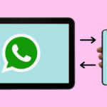 Tablet e smartphone compartilham WhatsApp