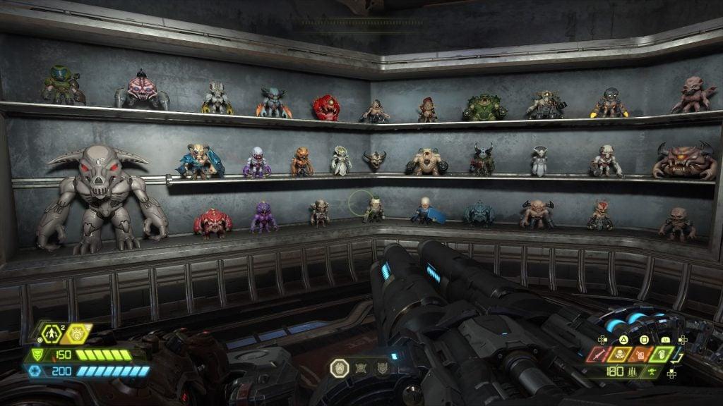 A coleção de todos os brinquedos do jogo.