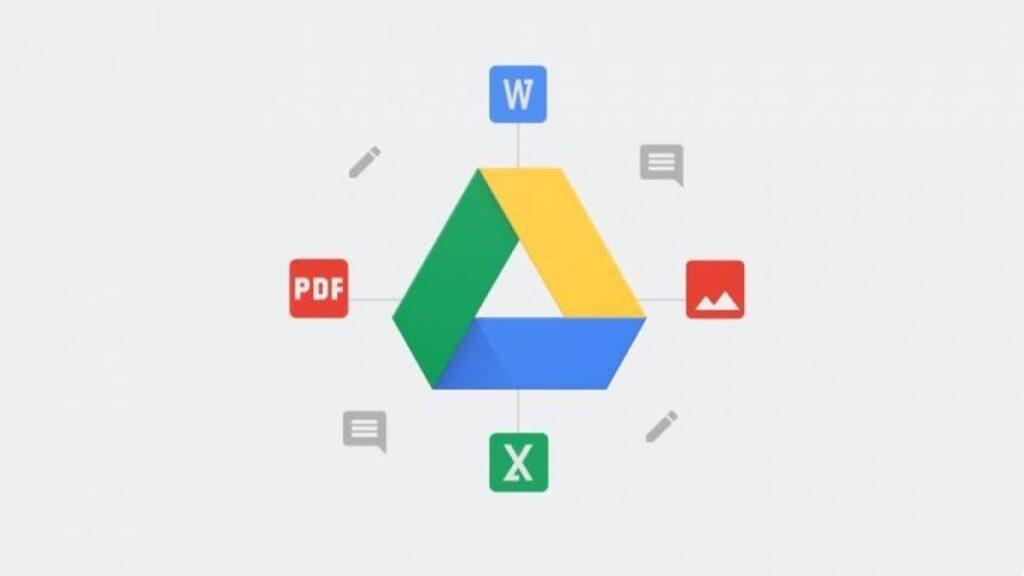 Diversos recursos e ferramentas do Google Drive